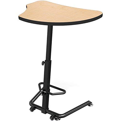- MooreCo Up-Rite Harmony Sit to Stand Configurable Student Desk-Fusion Maple Front Surface and Laminate Backer Back Surface-Black (90532-G-7909-BK)