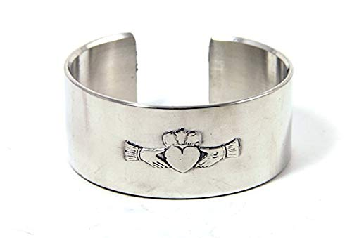 Mullingar Pewter Claddagh Irish Pewter Bangle