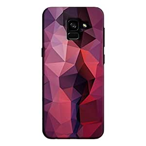 Cover It Up - Dark Purple Red Pixel Triangles Samsung Galaxy A8 Plus Hard Case