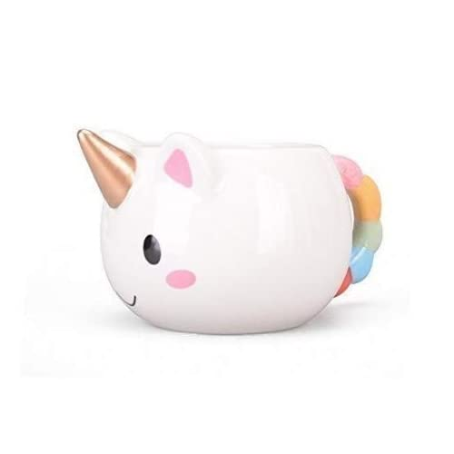 kyonne cute 3d unicorn mug rainbow horse coffee mugs gift for girl women