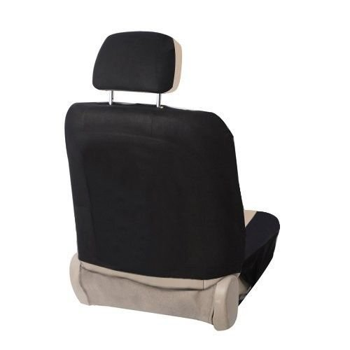 Zone Tech Universal Fit Car Seat Cover Flat Cloth Black//Beige Premium Quality Multinational Auto