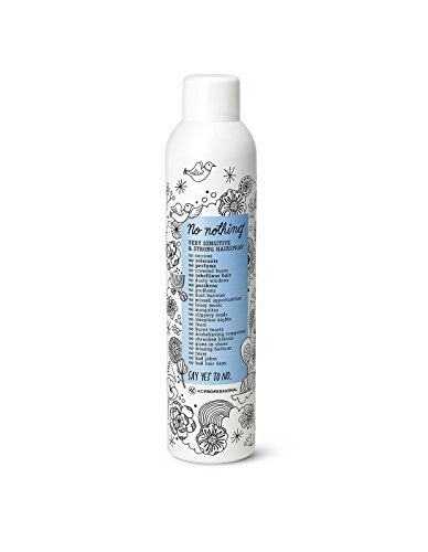 No nothing Very Sensitive Strong Hairspray - Fragrance Free Strong Styling and Finishing Spray, Hypoallergenic, Unscented Hair Spray 10.15 oz - KC Professional