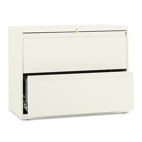 es Two-Drawer Lateral File, 36W X 19.25D X 28.38H Inches - Putty (Hon 800 Series Five Drawer)