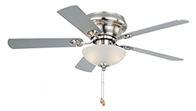 "Vaxcel F0023 Expo Flush mount Ceiling Fan, 42"", Satin Nickel Finish"
