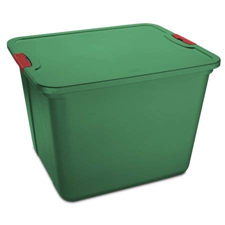 Mainstay 20 Gal. Plastic Storage Tote with Latches, Green