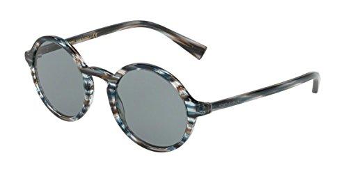 Dolce & Gabbana Men's DG4342 Striped Blue/Light Grey One Size (Dolce Und Gabbana Sport-tasche)