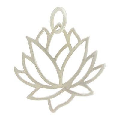 Design Lotus Pendant Flower (Large Open Design Lotus Flower Pendant in Sterling Silver, #8447)