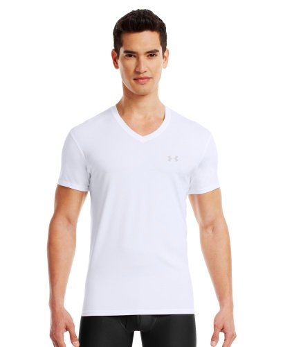 Under Armour Men's The Original UA Fitted V-Neck Undershirt Small White