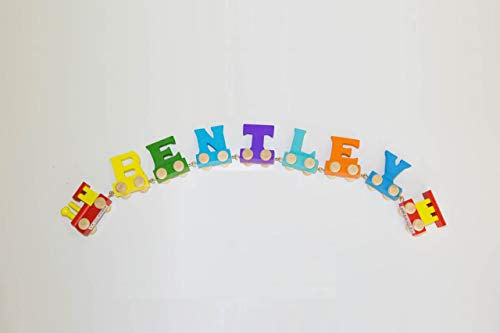 Vinsani Personalised Name Wooden Alphabet Train Letters Letter A Includes A Free Magnetic Carriage With Each Letter
