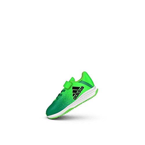 adidas RapidaTurf X EL I - Zapatillas de fútbolpara niños, Verde - (VERSOL/NEGBAS/VERBAS), 21