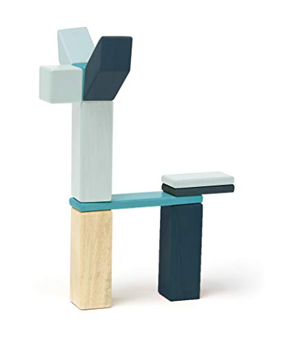 42 Piece Tegu Magnetic Wooden Block Set, Blues