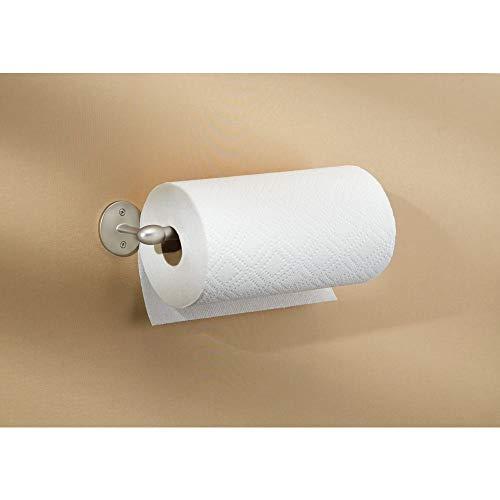 Kitchen Installing Cabinets (InterDesign Orbinni Paper Towel Holder for Kitchen, Wall Mount/Under Cabinet - Satin)