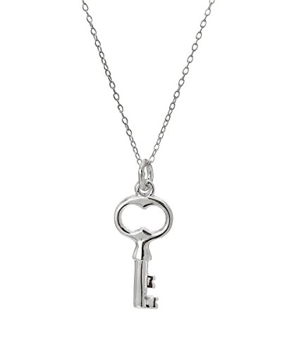 Sterling Silver Graduation Key Pendant Necklace, 18