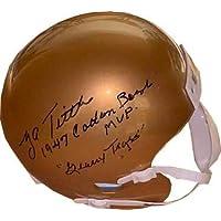 $85 » Y.A. (YA) Tittle signed LSU Tigers Schutt Mini Helmet dual 1947 Cotton Bowl MVP & Geaux Tigers- JSA - Autographed College Mini Helmets