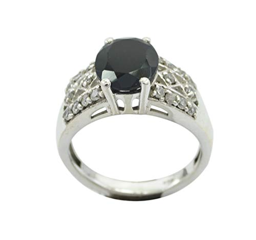 Common 925 Solid Sterling Silver splendiferous Natural Black Ring, Black Onyx Black Gemstone Silver Ring from RIYO