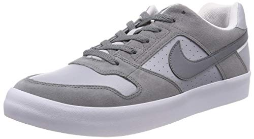 Nike Men's Sb Delta Force Vulc Cool Grey/Wolf Ankle-High Leather Skateboarding Shoe - 11.5M (Nike High Mens Sb)
