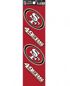 NFL San Francisco 49ers Quad Decal