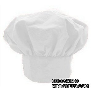 CHEFSKIN XL Chef Jacket Coat Costume XL White Fits Kids Children 8-9 Beautiful, and Free Kids Chef HAT Included