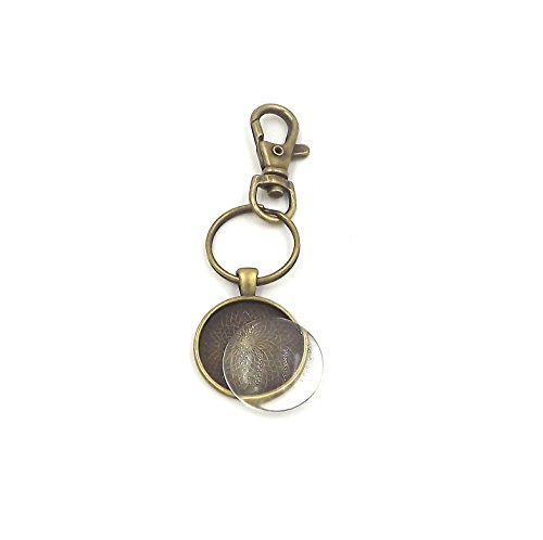 12 1 inch Circle Pendant Trays with key chain and glass - Antique Bronze- 1 inch - Pendant Blanks Cameo Bezel Settings Photo Jewelry - Custom Jewelry MakingDeannassupplyshop from Deanna's Supply Shop LLC