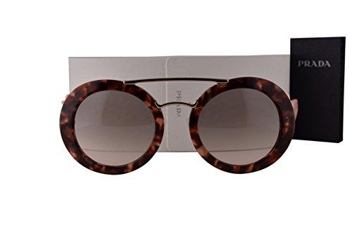 Prada PR13SS Sunglasses Spotted Brown Pink w/Pink Brown Gradient Lens UE04K0 - Sunglasses Limited Prada Edition
