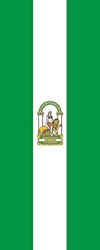 U24 Bandera de Andalucía verticales Premium Calidad 120 x 300 cm: Amazon.es: Deportes y aire libre