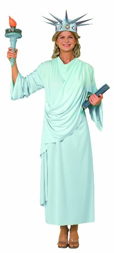 Forum Patriotic Party Miss Liberty Costume, Green, -