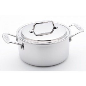 USA Pan 1515CW 4 Qt Stock Pot with Cover, Stainles Steel, 4 Quart by USA Pan