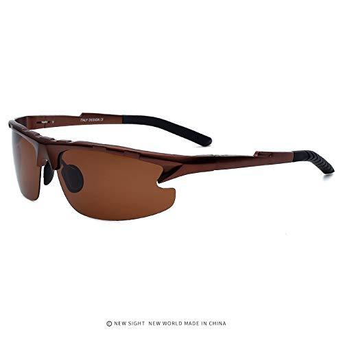 Gafas Aluminio Gafas Glasses Magnesium Color de Gun Brown polarizadas Hikers UV400 Hombre Deportivas Sol Outdoor Protección r8qYnarp