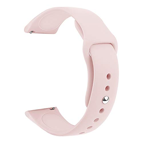 (Clearance Sale!DEESEE(TM)Sports Soft Silicone Replacement Band Strap for Samsung Galaxy Watch Active Large (Pink))