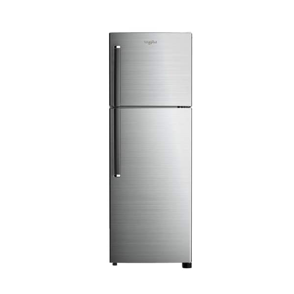 Wirlpool 265 L 2 Star Double Door Refrigerator (NEOFRESH 278LH PRM 2S, Chromium Steel) 2021 July Frost-free refrigerator; 265 litres capacity Energy Rating: 2 Star Warranty: 1 year on product, 10 years on compressor