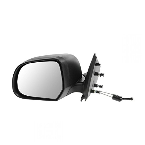 Mirror Manual Remote Textured Black Driver Side Left LH for 12-13 Nissan (Mirror Manual Remote)