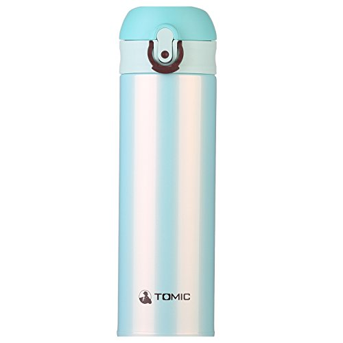TOMIC 16 oz (430ml) Double Wall Vacuum Insulated Stainless Steel Travel Mug with Flip Open Lid, Resistant to stains and odors, sweat & BPA Free, Best for Driving, Traveling, Office and Home Use