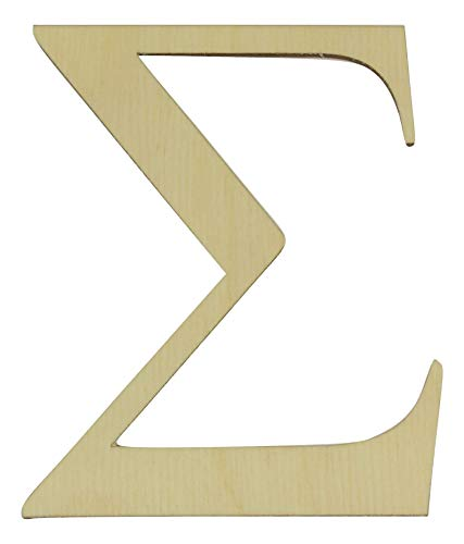 Greek Letters 6 inches Tall in Various thicknesses (Sigma, 1/8
