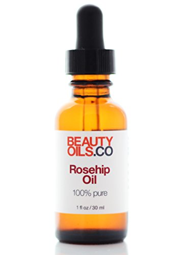 Rosehip Seed Oil 100% Pure Cold-Pressed Unrefined Rosa Mosqueta Anti-Aging Face and Body Beauty Moisturizer Treatment for Dry Skin (1 fl oz)