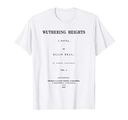 Wuthering Heights Title Page Literary Book Shirt