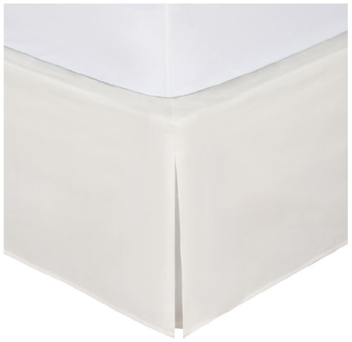 "Cream Bedskirt - Magic Skirt Tailored Bedskirt, Never Lift Your Mattress, Classic 14"" drop length, Pleated Styling, Queen, Ivory"