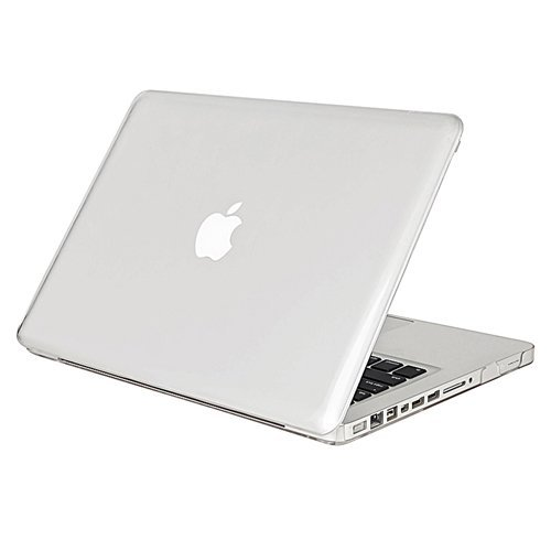 SODIAL(R) Clear Snap On Case + Clear Screen Protector Compatible With 13-Inch Macbook Pro