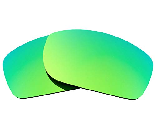 Replacement Lenses Compatible with OAKLEY Fives Squared Polarized Green Mirror (Iridium Lens Black Vr28)