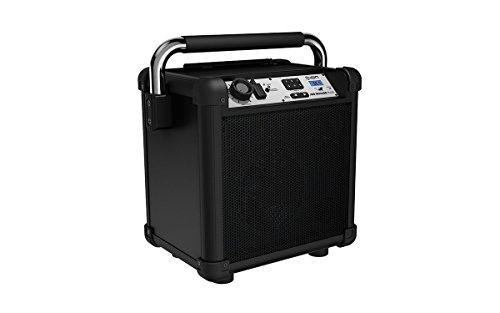 ION Audio Job Rocker Plus | Portable Heavy-Duty Jobsite Bluetooth Speaker System with AM/FM Radio + Mic Input (Black)