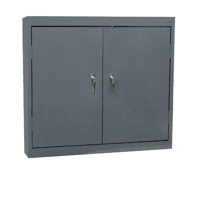 (Sandusky Lee Welded Steel Wall Cabinet - Solid Doors, 36in.W x 12in.D x 30in.H, Charcoal, Model# WA22361230-02)