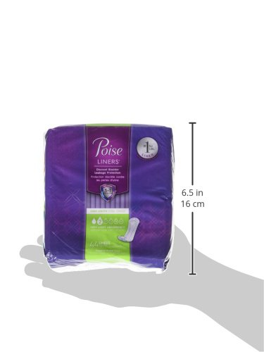 Poise Liners for Light Bladder Leakage, Long Length, Very Light Absorbency, 44 Count (Pack of 2) by Poise (Image #2)