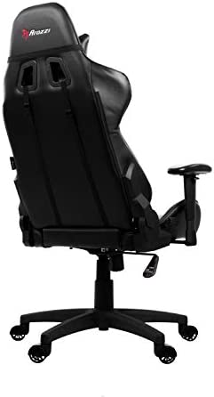 Arozzi Verona V2 Advanced Racing Style Gaming Chair with High Backrest, Recliner, Swivel, Tilt, Rocker and Seat Height Adjustment, Lumbar and Headrest Pillows Included, Black 31IgxOttBFL