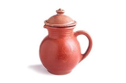 Zishta Clay Water Jug, Red (1 5 Litre)