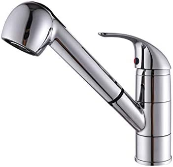 VONGUE Kitchen Sink Faucet Single Handle Pull-Out Sprayer Chrome Brushed nickel Sink Faucet