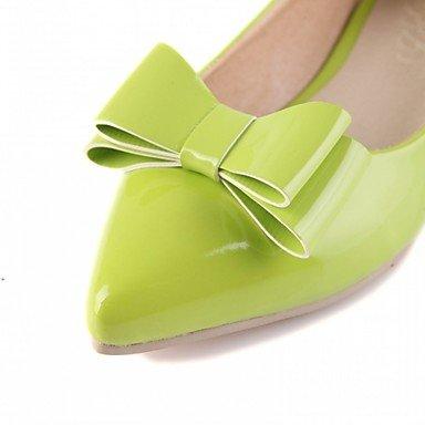 Cómodo y elegante soporte de zapatos de las mujeres pisos primavera verano otoño invierno comodidad diseño de charol piel sintética boda oficina y carrera vestido casual fiesta y noche verde