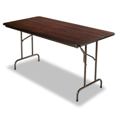 Rectangular Walnut Folding Table - Alera Folding Rectangular Table, 60 by 30 by 29-Inch