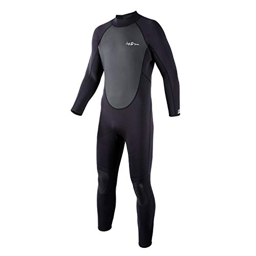 lockys sports Full Body Dive Wetsuit, 3mm Neoprene Wetsuit, Long Sleeve Swimwear with Adjustable Collar for Diving Surfing Snorkeling for Men (2X-Large)