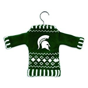 Michigan State Spartans Ornaments (NCAA Knit Sweater Ornament - Arkansas NCAA Team: Michigan State)