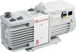 Across International RV8 Edwards RV8 Dual Stage High Capacity Vacuum Pump with Fittings,  6.9 cfm, 110/220V, 50/60 Hz