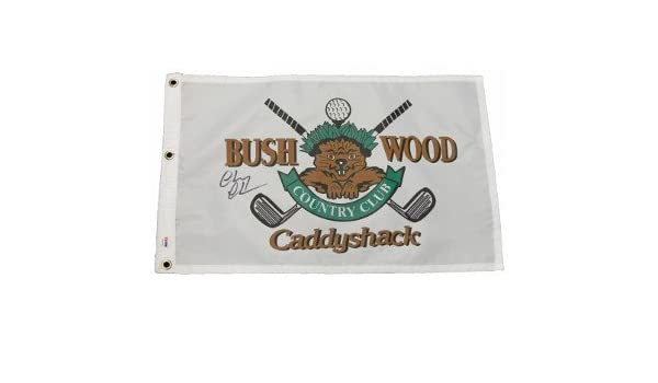 d3e63cdec Chevy Chase signed Caddyshack Beaver Logo Bushwood Country Club Golf Pin  Flag- PSA Hologram (entertainment) at Amazon s Sports Collectibles Store